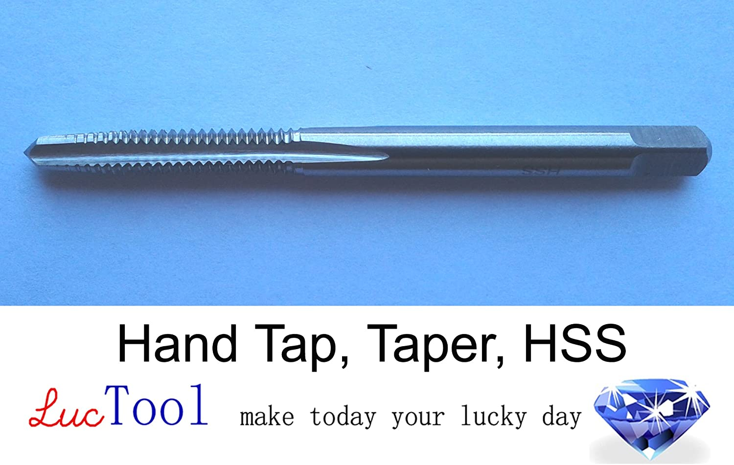 Luctool 7//8-9 UNC Hand Tap Bottoming GH4 Limit 4 Flute HSS Bottom Chamfer Uncoated Bright Finished Ground Thread Luctool Provides Premium Quality Hand Tools for Metal Threading.