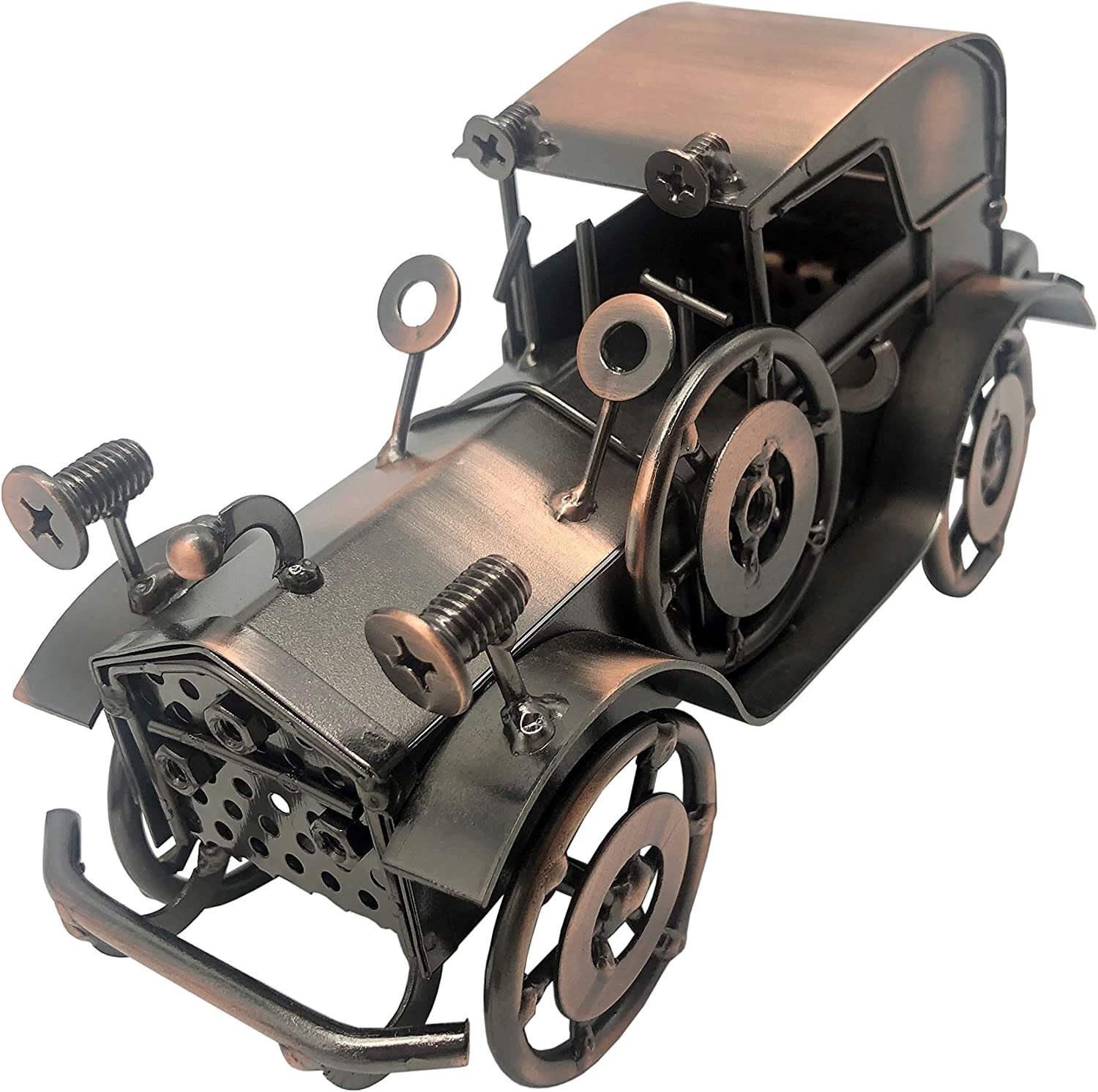 NYAIR Handcrafted Metal Antique Vintage Car Model Collectible Vehicle Toys for Bar or Home Decor Decoration