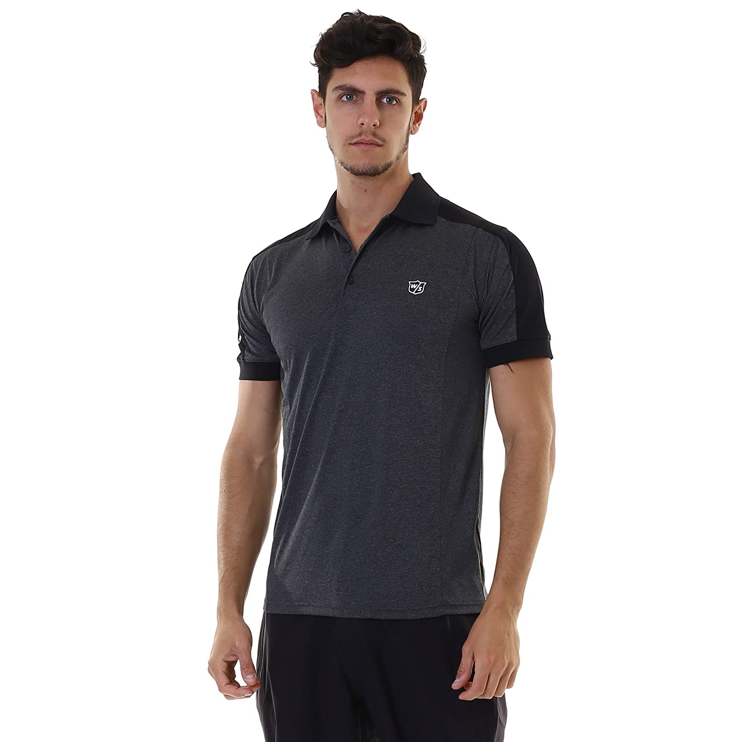 Wilson Staff FG Tour F5 Performance Polo-Shirt Mottled Grau Grösse XXL