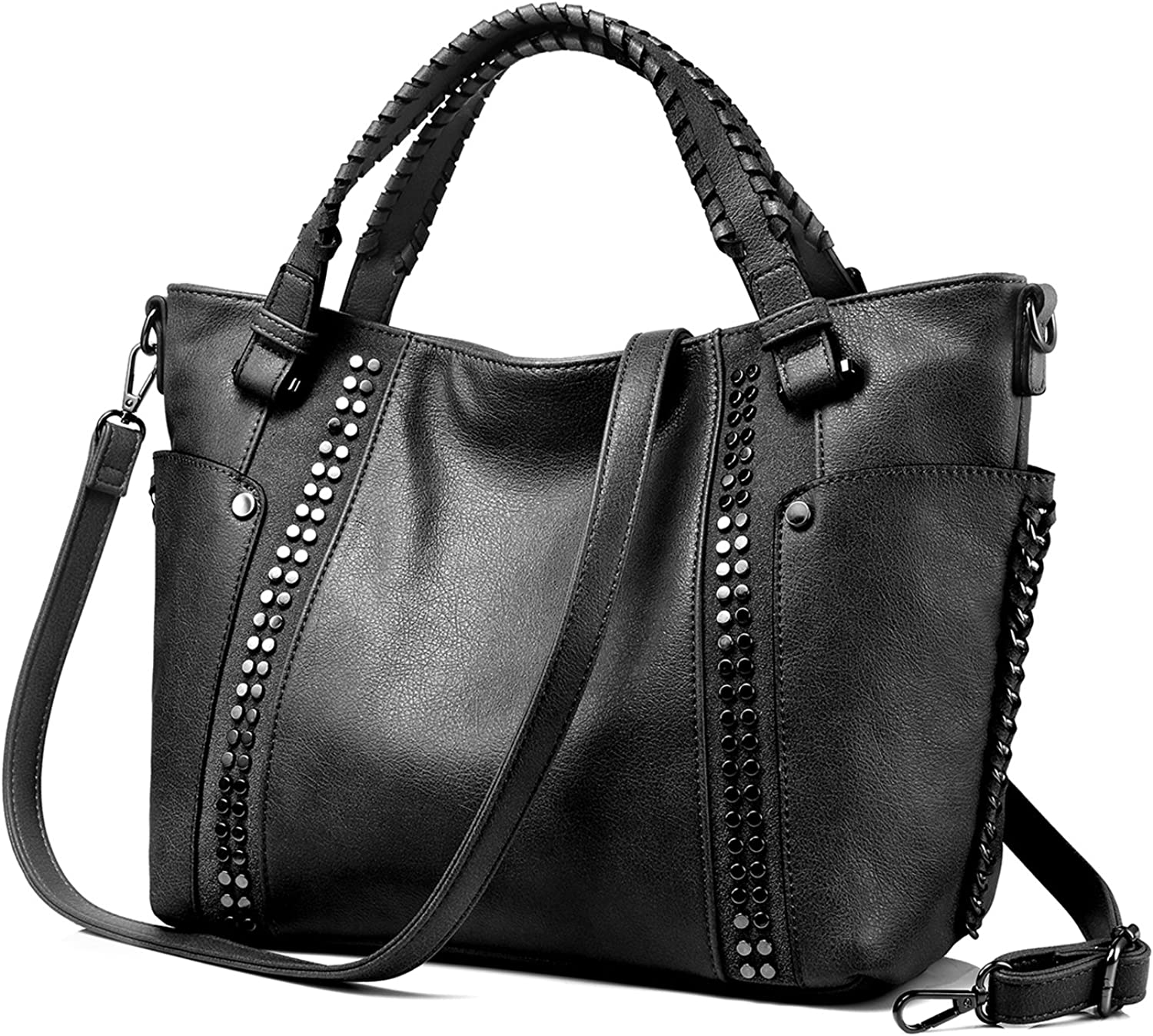 Ladies Tote Shoulder Bags Womens Fashion Medium Size Faux Leather Handbags New