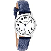 Ferenzi Women's | Playful Silver and Navy PU Leather Watch | FZ19101
