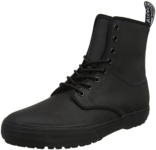 Dr. Martens Winsted, Botas Adultos Unisex, Negro (Black 10 Oz Canvas and Black Cotton Binding 001), 41 EU