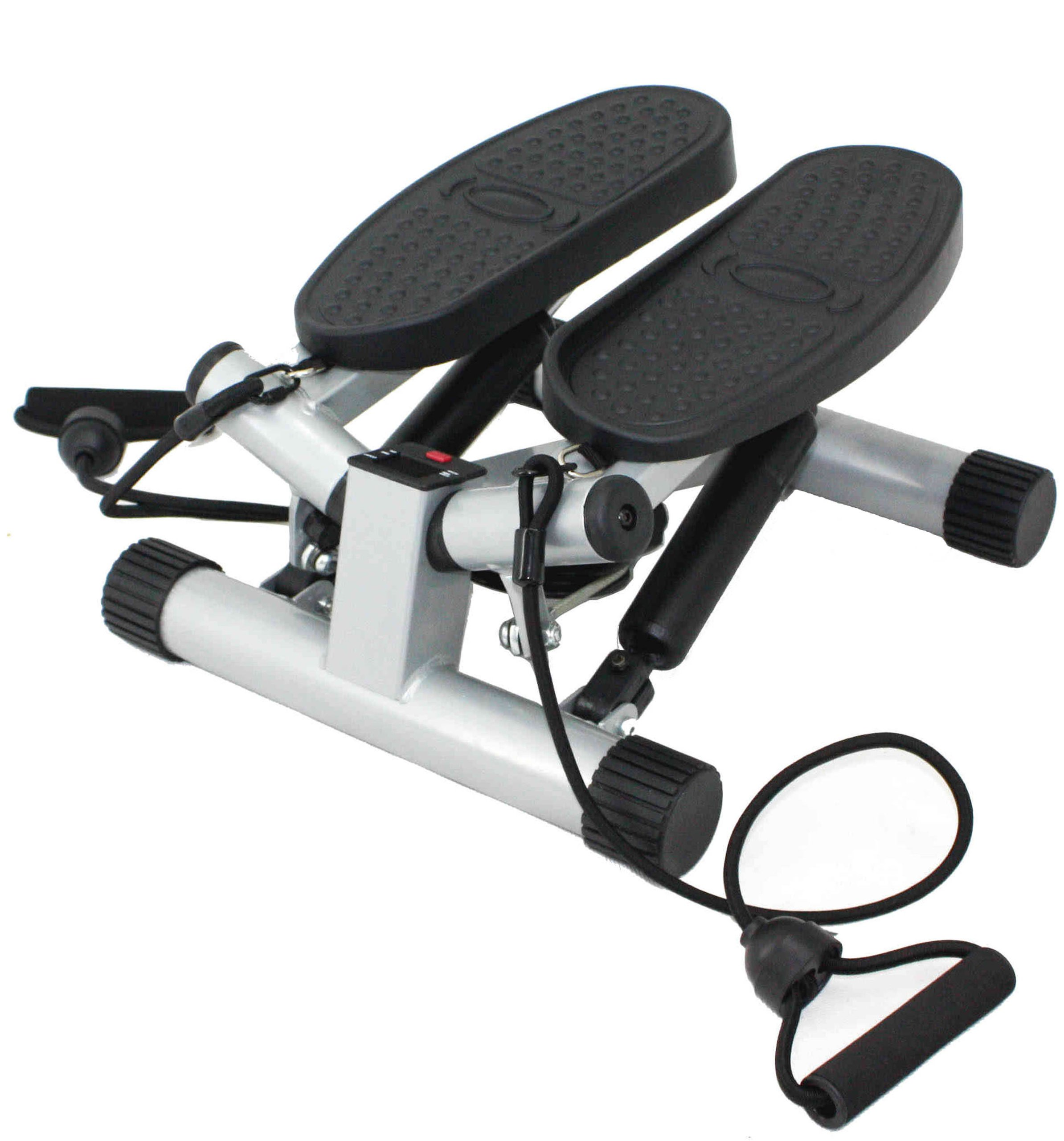 Sunny Health & Fitness Mini Stepper Stair Stepper Exercise Equipment with Resistance Bands and Twisting Action - NO. 068