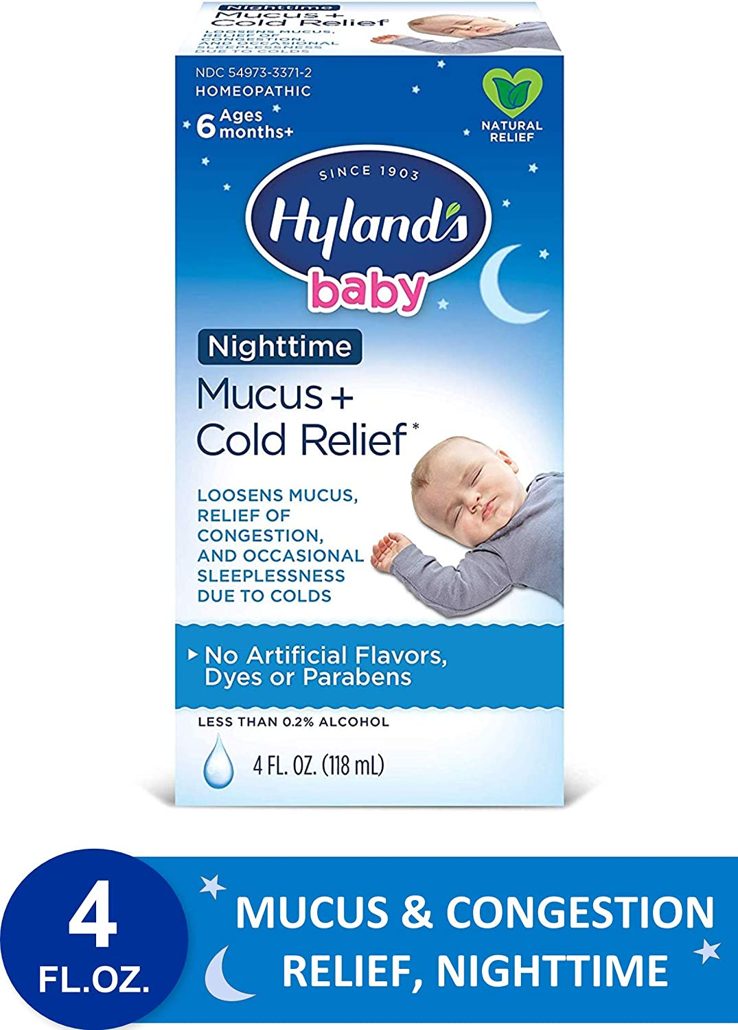 Baby Cold Medicine Nighttime Infant Cold And Cough Medicine Decongestant Hyland S Baby Mucus And Cold Relief 4 Fluid Ounce Packaging May Vary