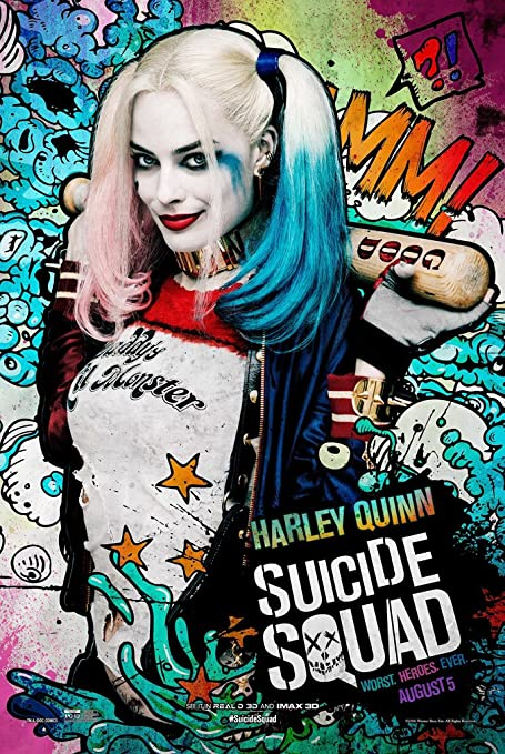 a1a0abf8b7c1 Amazon.com  Suicide Squad (Harley Quinn) Movie Poster - Size 24
