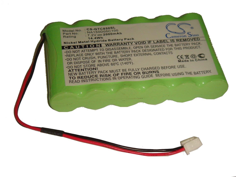 vhbw Batería 2000mAh (7.2V) para Graetz TC850B, TC850C como NA150D05C100.