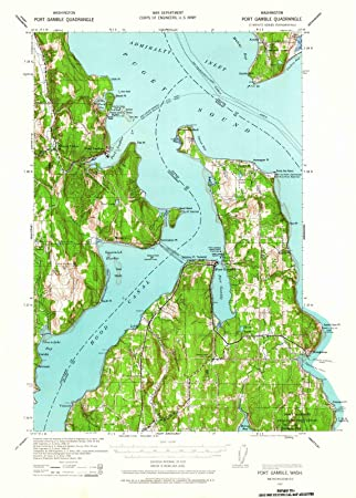 Port Gamble Washington Map.Amazon Com Washington Maps 1937 Port Gamble Wa Usgs Historical