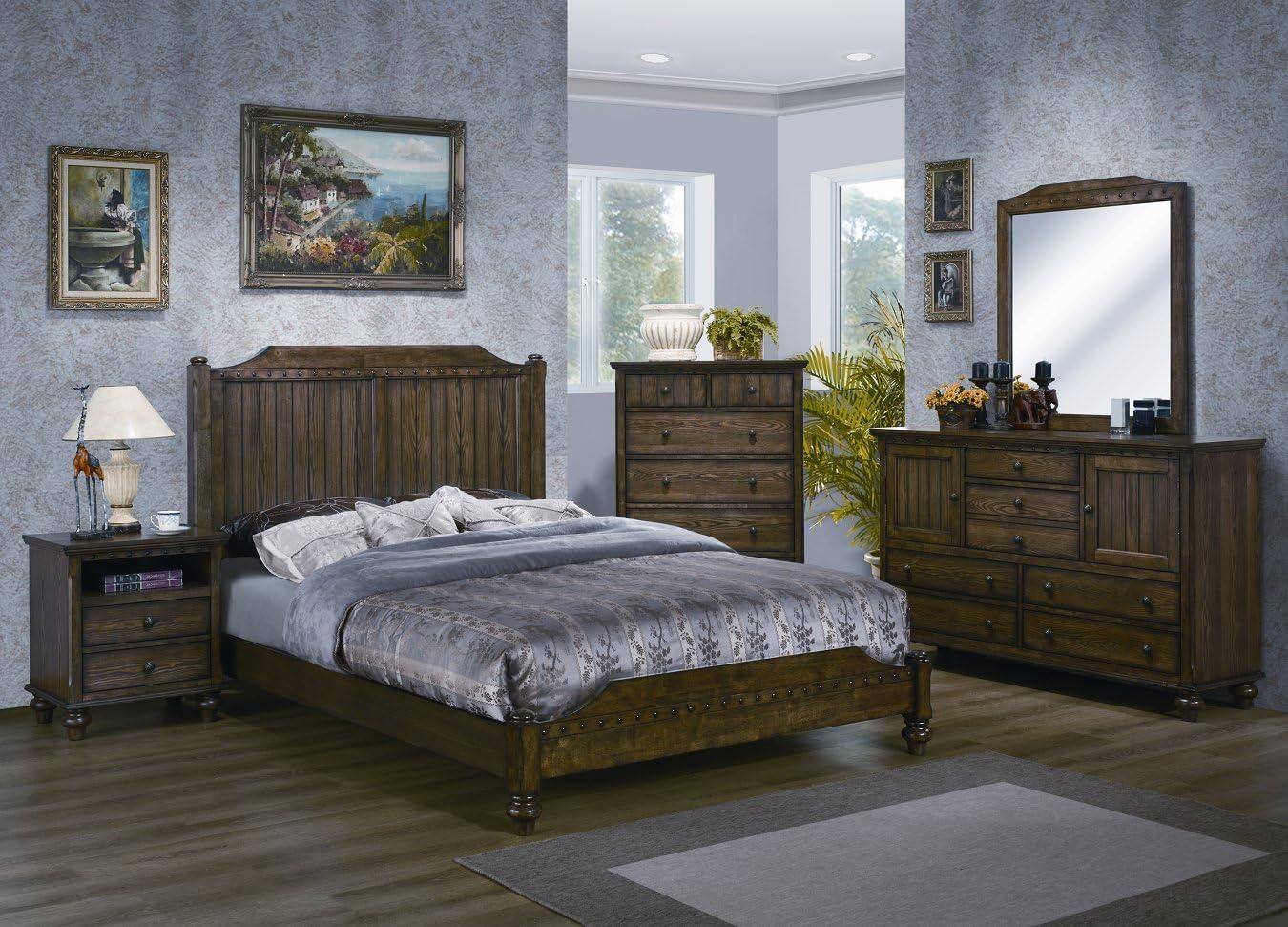 Yuan Tai Dartmouth 5-Piece Bedroom Furniture Set, King