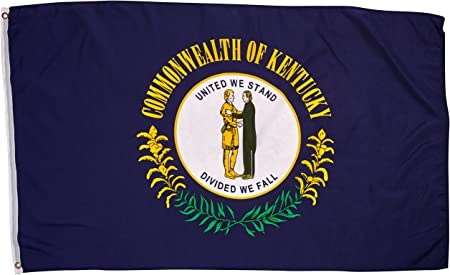 Kentucky State Official Usa Flag 3x5 Polyester