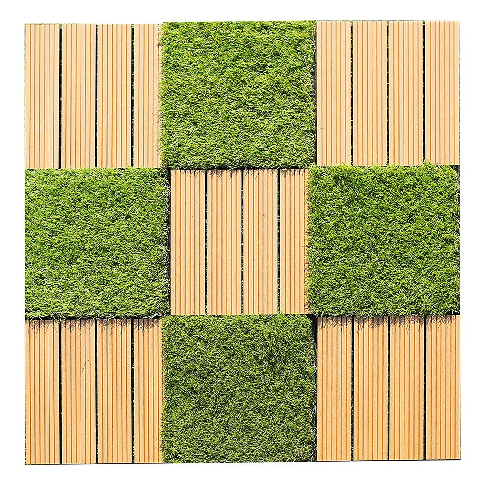 Kunstrasen Terrassenfliese 1 m/² 11 Fliesen /á 30 x 30 cm Home Deluxe