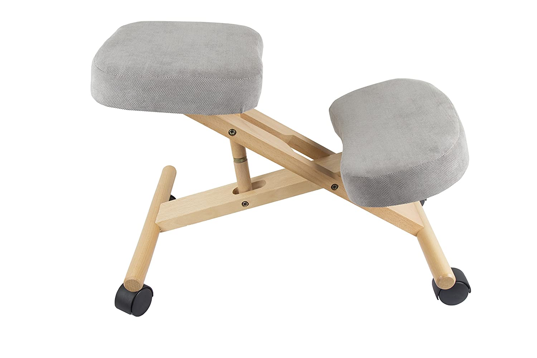 Pro 11 WELLBEING, verstellbarer, ergonomischer Kniestuhl, 3 Farben, grau, 70 x 50 x 45 cm
