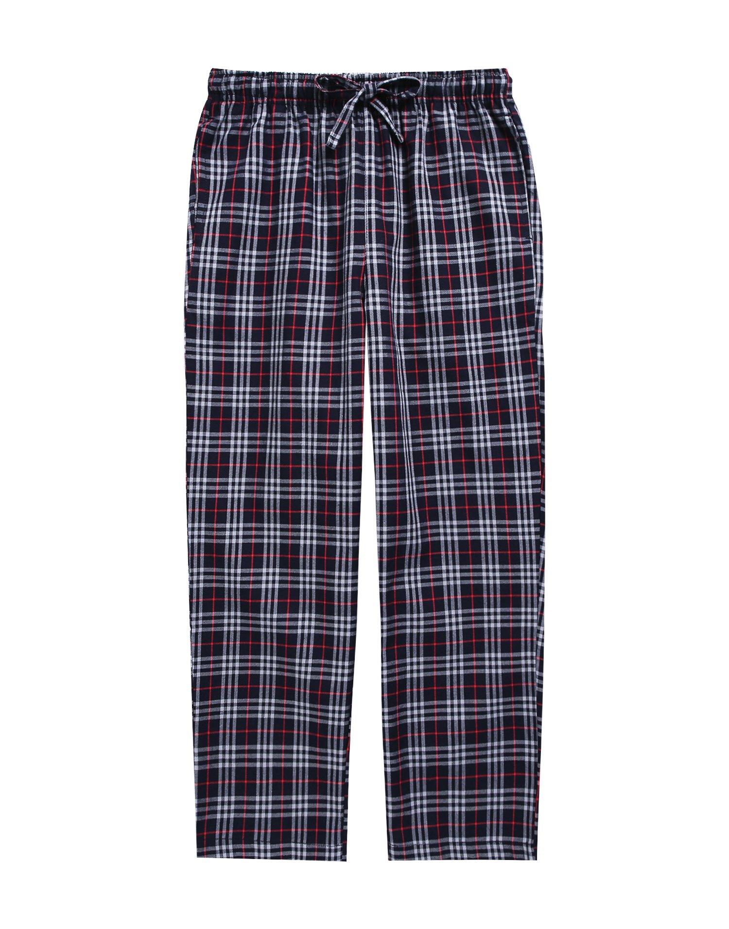TINFL Boys Plaid Check Soft 100% Cotton Lounge Pants BLP-SB002-Darkgrey-M