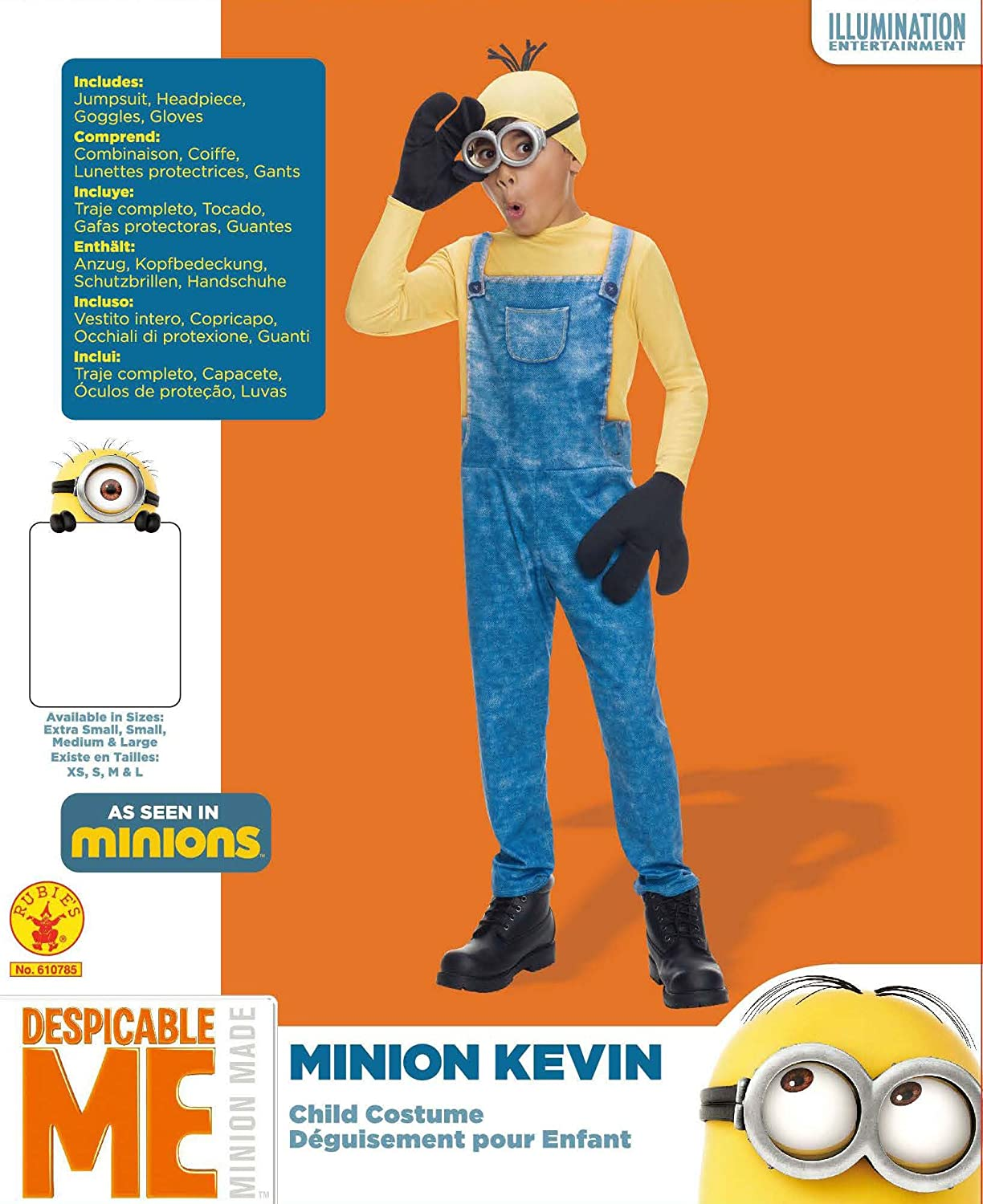 Rubies Costume Minions Kevin Child Costume, Large