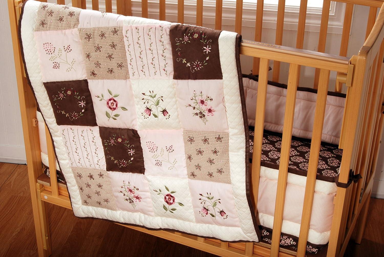 Amazon.com: Kids Line Julia Portacrib ropa de cama (3 piezas ...