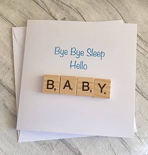 New baby funny scrabble greetings card bye bye sleep hello baby new baby funny scrabble greetings card bye bye sleep hello baby newborn congratulations m4hsunfo