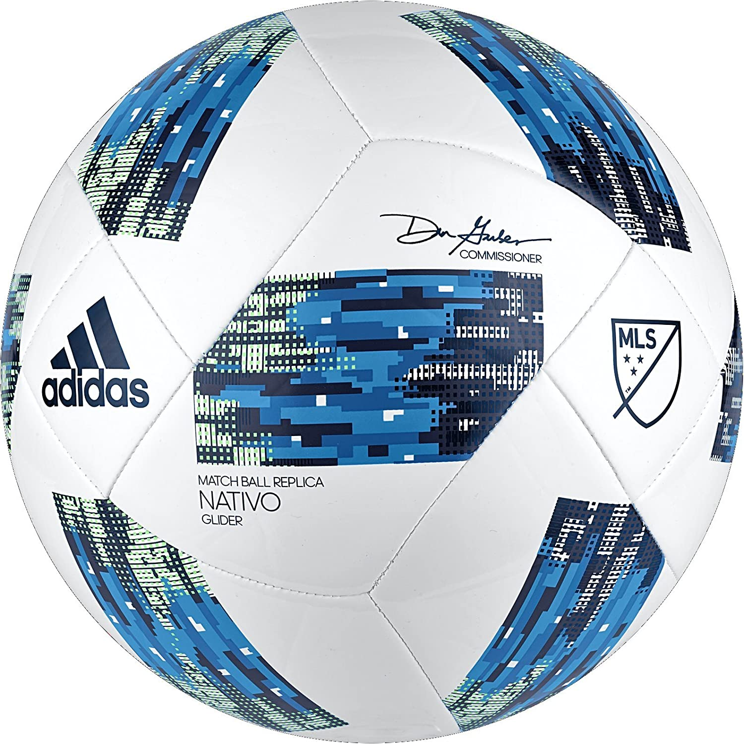 adidas Performance MLS Glider Pelota, tamaño 5, Color Blanco ...