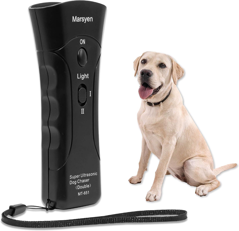 MARSYEN Anti Barking Device - Remote Stop Barking Dog Devices - 20 Ft Control Range Ultrasonic Barking Dog Deterrent - Handheld Anti-Barking Dog Training Device