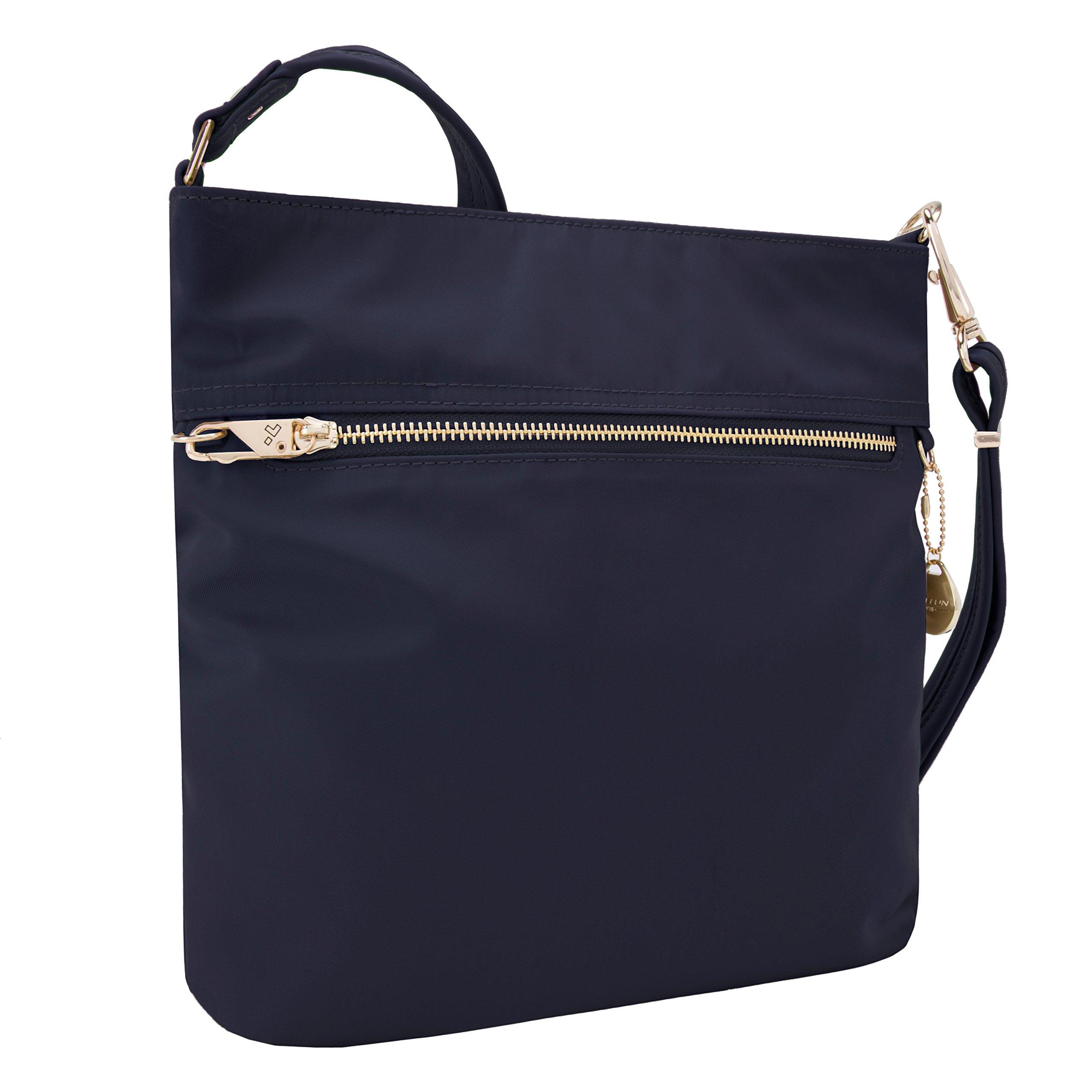Travelon Women's Anti-Theft Tailored N/s Slim Bag Cross Body, Sapphire One Size