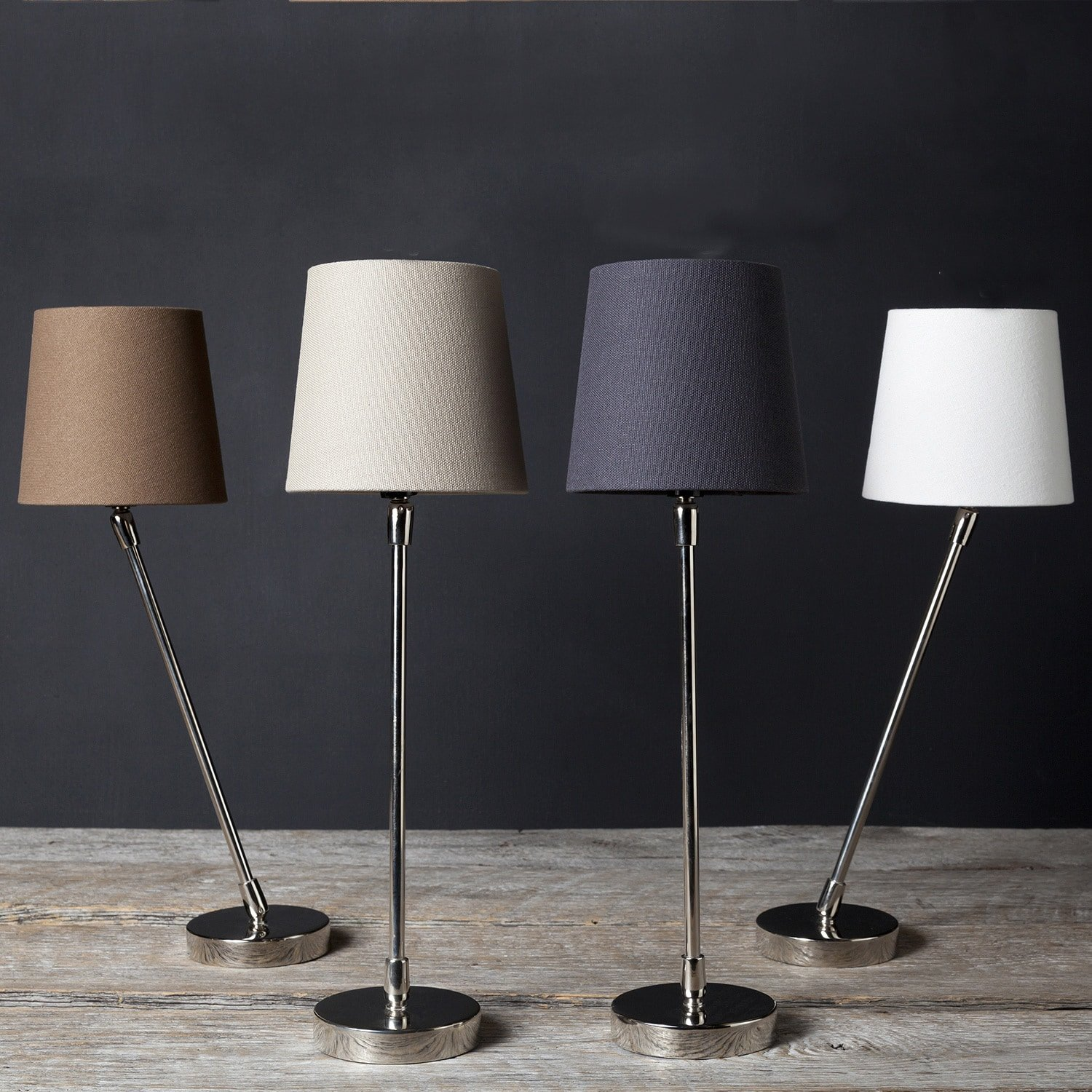 Filament 1-light Stainless Steel Hand-assembled Table Lamps (Set of 2) Taupe