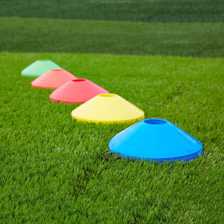EXQULEG Markierungsh/ütchen Handball 50er Set bunt Markierungsteller f/ür Sport Basketball Fussball Football