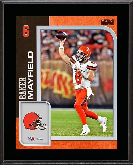 d3d6e1356 Baker Mayfield Cleveland Browns 10.5 quot  x 13 quot  Sublimated Player  Plaque - NFL Player Plaques