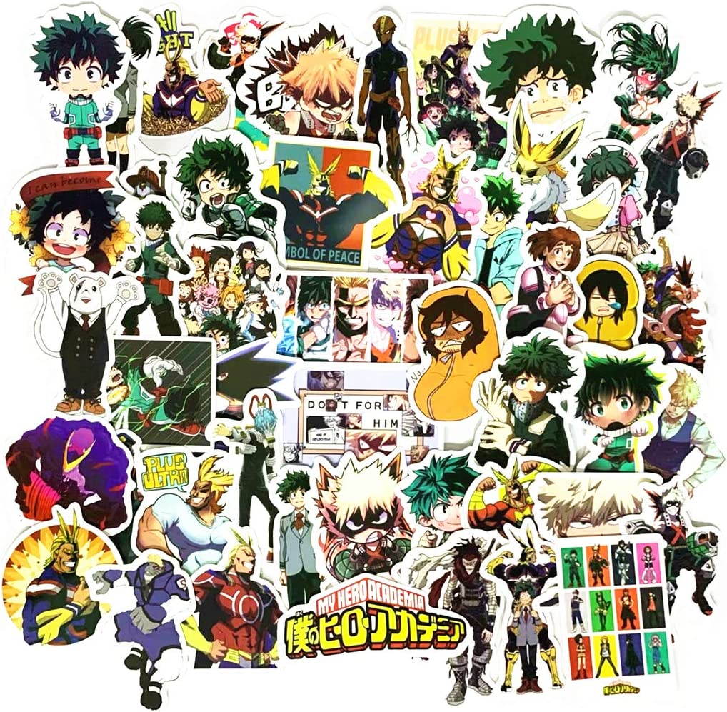 50PCS My Hero Academia Stickers,Waterproof Decals Cartoon Anime Stickers for Phone,Water Bottle,Laptop,Skateboard,Motorcycle,Car,Bike,Luggage (50PCS My Hero Academia Stickers)