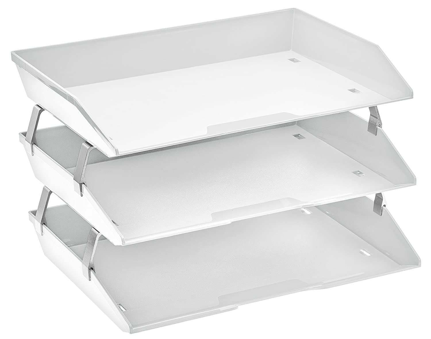 Acrimet Facility 3 Tiers Triple Letter Tray (White Color)