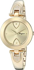 Salvatore Ferragamo Women's 'GILIO' Swiss Quartz Stainless Steel Casual Watch, Color Gold-Toned (Model: FIW090017)