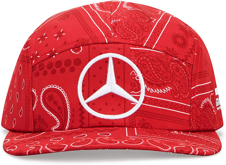 OneSize Lewis Hamilton Special Edition Silverstone Cap Mercedes-AMG Petronas Rot Offiziell Lizenziertes Formel-1-Produkt