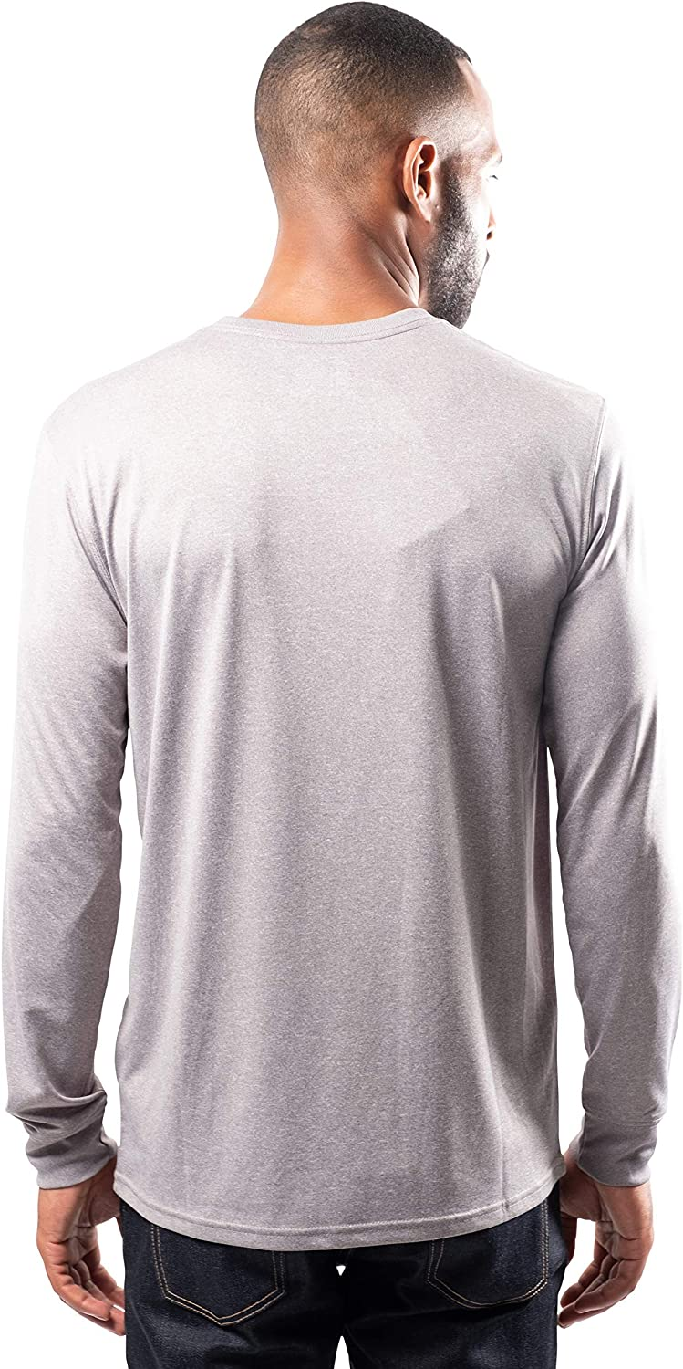 NFL Ultra Game Carolina Panthers Active Long Sleeve Tee Shirt Heather Grey Medium