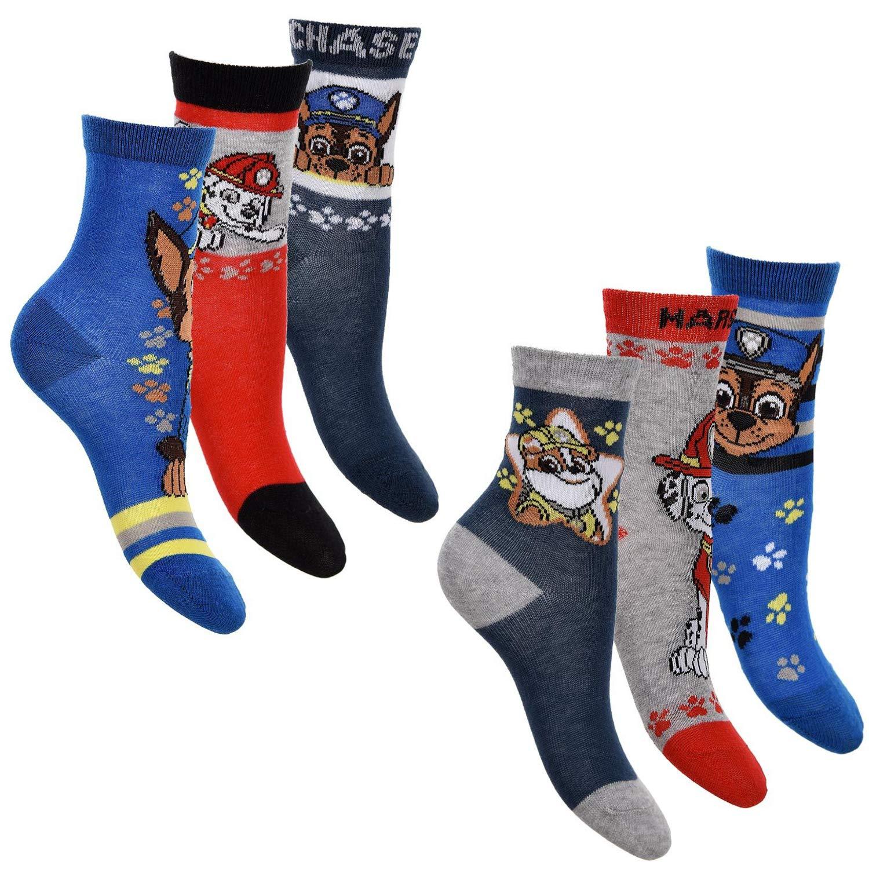 6er Pack Jungen Socken Strümpfe Paw Patrol mit vielen verschiedenen Muster und Designs