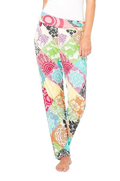 Desigual 61NL0P6, Pantalones de Pijama para Mujer, Naranja (Ambar), 42