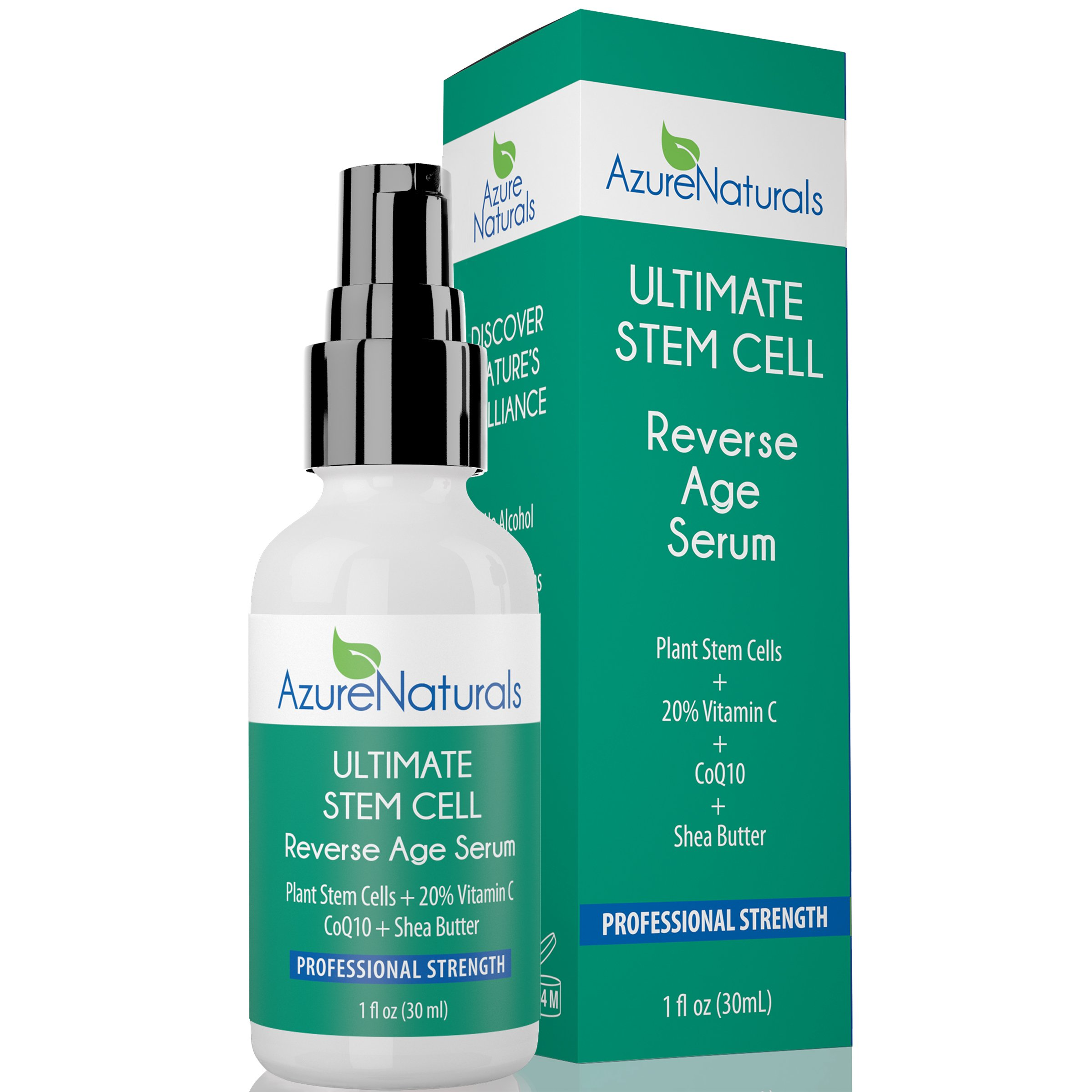 ULTIMATE REVERSE AGE Serum 20% Vitamin C + Plant Stem Cells + Tumeric + CoQ10 + Shea Butter