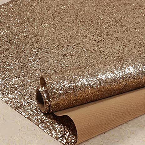 Real Chunky Glitter Wallpaper Grade 3 Bling Wallcovering Rough Surface Sparkly Fabric