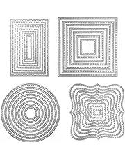 Gosear Acero al Carbono Lindo Globo Estilo de grabación en Relieve Matrices Plantillas moldes para Bricolaje