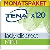 Tena Lady Discreet Monats-Paket Mini mit 120 Einlagen (6 Packungen x20 Einlagen), 1er Pack (1 x 120 )