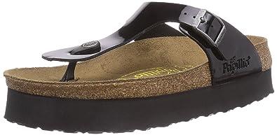 Birkenstock Gizeh Platform 304621 Patent Black (Man Made) Womens Sandals 38 EU