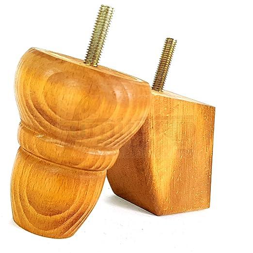 4 patas de madera giradas de 82 mm para muebles de sofás ...