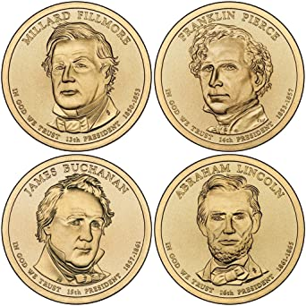 2014 D Presidential Dollar 4-Coin D Mint Uncirculated