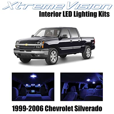 XtremeVision Interior LED for Chevy Silverado 1999-2006 (18 Pieces) Blue Interior LED Kit + Installation Tool: Automotive