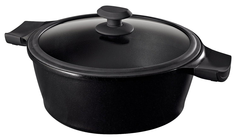 Raymond Blanc Cast Aluminium 20 cm Casserole Dish Black