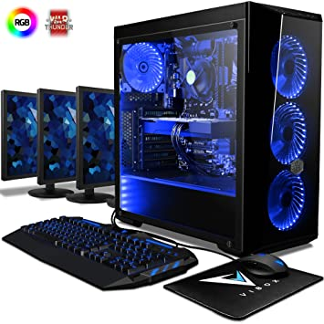 Vibox Warrior 7 Gaming Pc Computer With Game Voucher 3x Triple 22