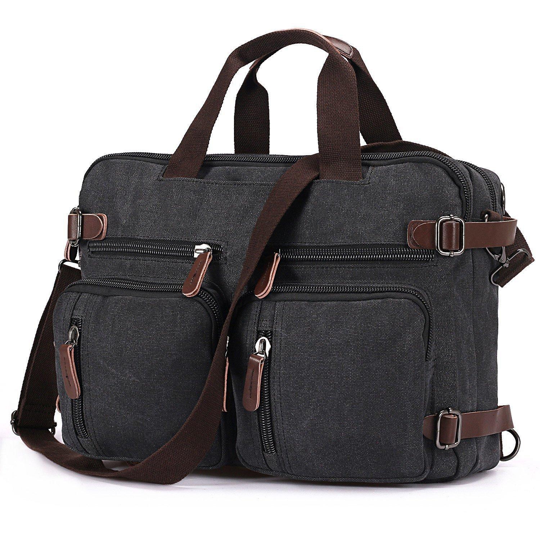 BAOSHA HB Vintage lienzo bolso de mano hombres del maletín mochila Convertible