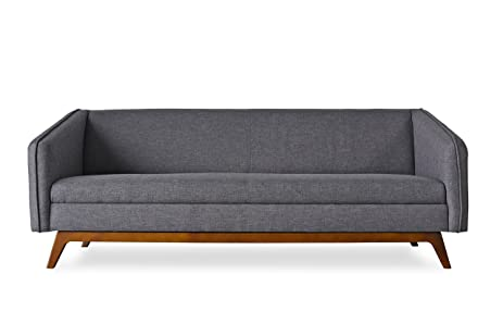 ALBANS Modern Sofa   Mid Century Modern Sofas For Living Room   Charcoal