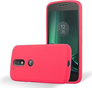 Cadorabo Funda para Motorola Moto G4 / Moto G4 Plus en Frost Rojo ...