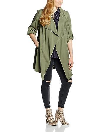 c4cfc97600ff0 New Look Curves Women s Waterfall Mac Coat