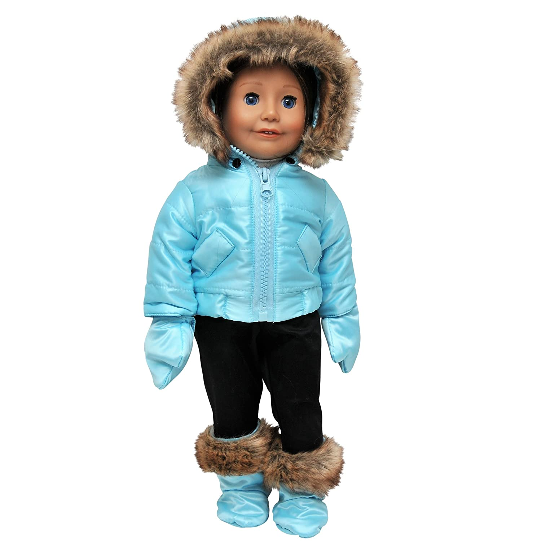 Amazon.com  The Queens Treasures Ski Wear Outfit  Toys   Games 6df1c1e0c
