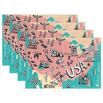 naanle USA Scenery American Map Huhn Kompass Ocean Segelboot ...