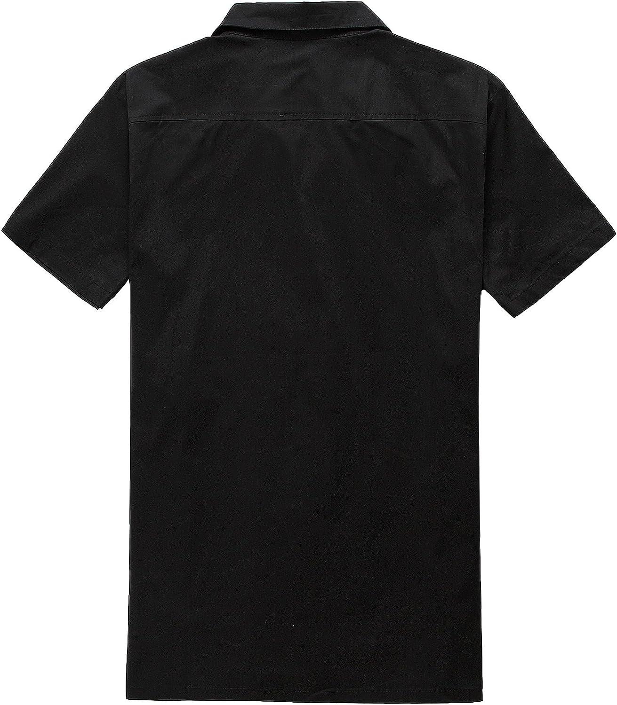 Candow Look Camisas de Hombre Negro Algod¨®n Flame Pattern Print: Amazon.es: Ropa y accesorios
