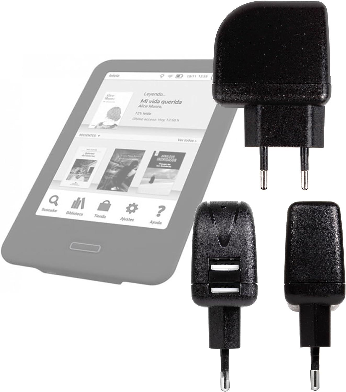DURAGADGET Cargador (2 Amperios) para Libro electronico eReader ...